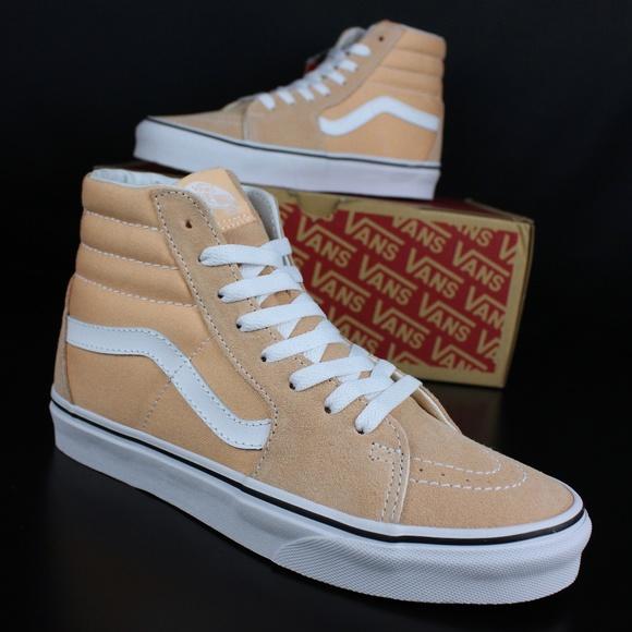 20b1f65e77 Vans Womens Bleached Apricot True White Sk8-Hi